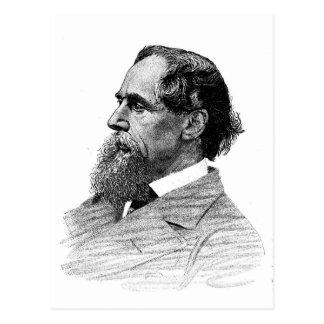 Perfil de Charles Dickens Tarjeta Postal