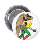 Perfil de Hawkwoman Pin Redondo De 2 Pulgadas