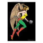 Perfil de Hawkwoman Tarjeta De Felicitación