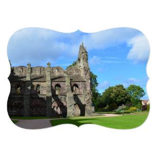"""Perfil de la abadía de Holyrood Invitación 5"""" X 7"""""""
