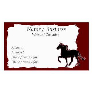 Perfil de la bandera del caballo de la montaña tarjetas de visita