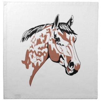 Perfil de la cabeza de caballo servilleta de papel