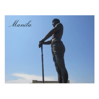 perfil de la estatua de Manila Postal