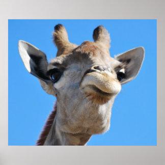 Perfil de la fotografía de la jirafa impresiones