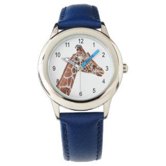 Perfil de la jirafa relojes de pulsera
