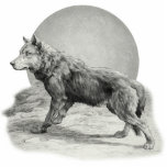 Perfil de la luna del lobo esculturas fotográficas