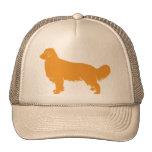 Perfil de la obra clásica del golden retriever gorras