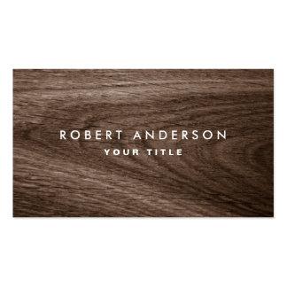 Perfil de madera oscuro del profesional del grano plantilla de tarjeta personal