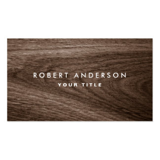 Perfil de madera oscuro del profesional del grano tarjetas de visita