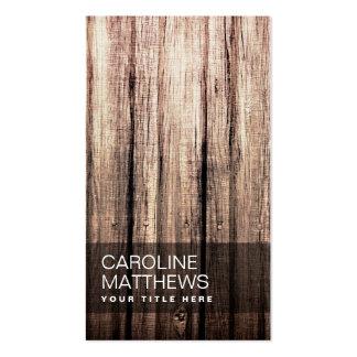 Perfil de madera resistido elegante del profesiona tarjetas de visita
