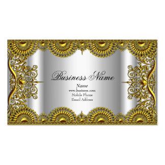 Perfil de plata adornado con clase elegante del co tarjetas de visita