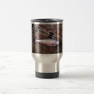 Perfil de rey salmón tazas de café