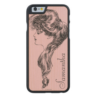 Perfil de un chica de Gibson, 1903 Funda De iPhone 6 Carved® De Arce