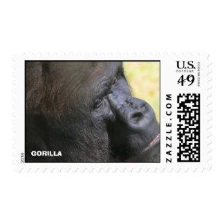 Perfil de un gorila sellos postales