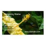 Perfil de un hibisco amarillo tarjetas de visita