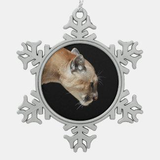 Perfil de un puma adorno