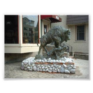 Perfil de una escultura del búfalo en el búfalo Nu Foto
