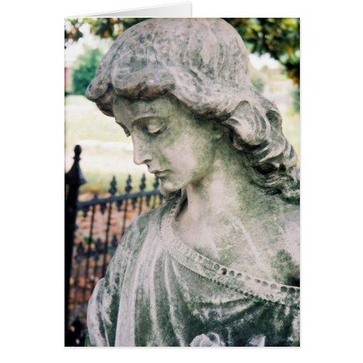 Perfil del ángel tarjeta de felicitación