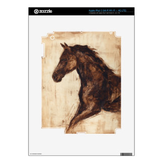 Perfil del caballo salvaje de Brown Pegatina Skin Para iPad 3