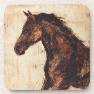 Perfil del caballo salvaje de Brown Posavasos De Bebidas