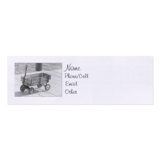 Perfil del carro del vintage mini tarjeta de visita