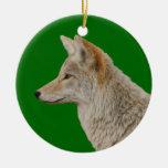 perfil del coyote ornamento de navidad