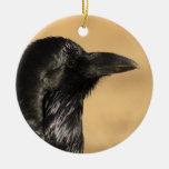 perfil del cuervo adorno de navidad
