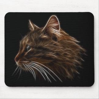 Perfil del fractal de la cabeza del gatito del gat tapetes de ratones