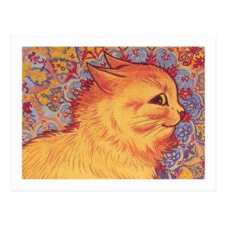 Perfil del gato de Louis Wain Postal