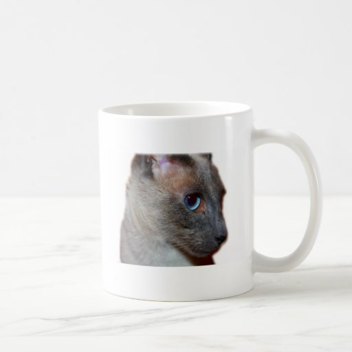 Perfil del gato siamés taza de café