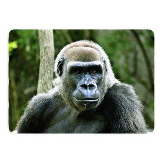 """Perfil del gorila invitación 5"""" x 7"""""""