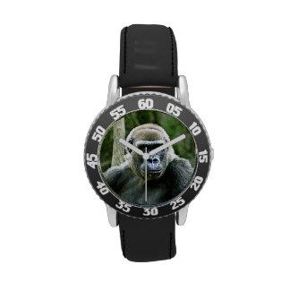 Perfil del gorila relojes de pulsera