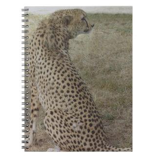 Perfil del guepardo libro de apuntes con espiral