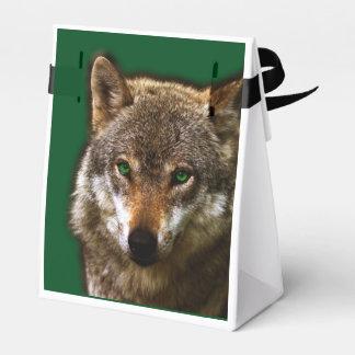 Perfil del lobo con el fondo editable del ~ de los caja para regalos de fiestas