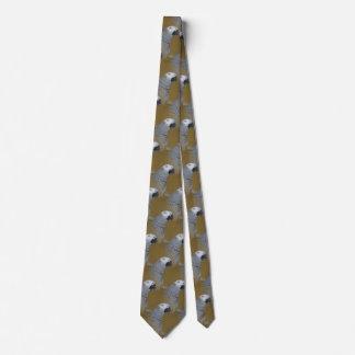 Perfil del loro del gris africano corbata personalizada