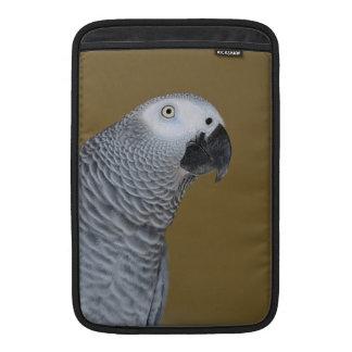 Perfil del loro del gris africano funda para macbook air