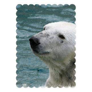 """Perfil del oso polar invitación 5"""" x 7"""""""