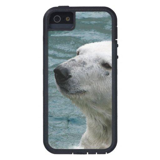 Perfil del oso polar iPhone 5 Case-Mate protector
