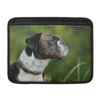 Perfil del perro del boxeador fundas MacBook