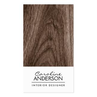 Perfil del profesional del grano de madera de robl plantillas de tarjeta de negocio