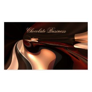 Perfil elegante de Brown de la crema del remolino  Tarjetas De Visita