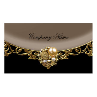 Perfil elegante del boutique del oro de Brown del  Tarjetas De Visita
