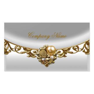 Perfil elegante del oro del boutique del oro blanc tarjetas de visita