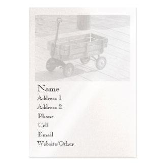 Perfil grande del carro del vintage tarjeta de negocio