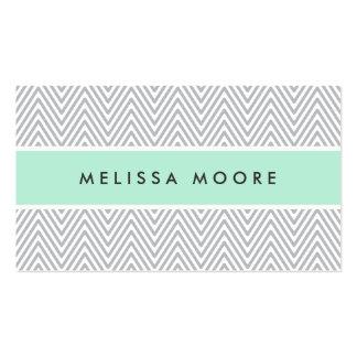 Perfil gris elegante del profesional de la verde m tarjetas de visita