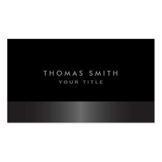 Perfil gris oscuro y negro con clase elegante mode plantilla de tarjeta de visita