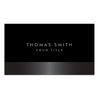 Perfil gris oscuro y negro con clase elegante tarjetas de visita