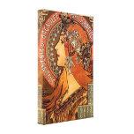 Perfil hermoso de las señoras - Mucha Lona Estirada Galerías