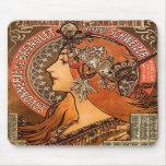 Perfil hermoso de las señoras - Mucha Alfombrillas De Ratones