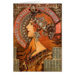 Perfil hermoso de las señoras - Mucha Tarjetas